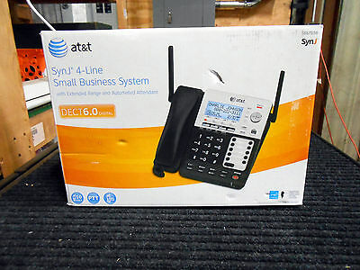 AT&T SynJ SB67158 DECT 6.0 4-Line Corded/Cordless Small Business Phone System