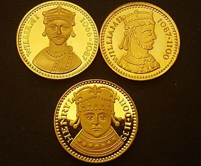 House of Normandy Gold Gilt Sterling (.925) Silver Coin - Our Royal Sovereigns