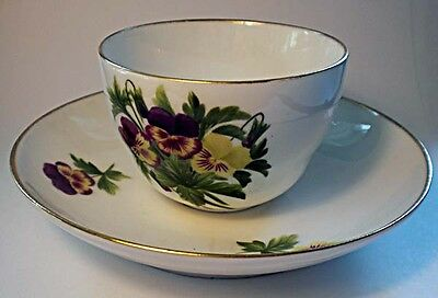 A late 19th. century hand painted Copenhagen cup & saucer