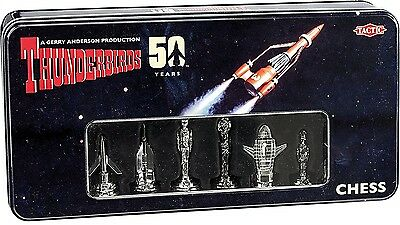 Thunderbirds 50th Anniversary Chess Set Tactic Games Limited Edition 3D Pieces
