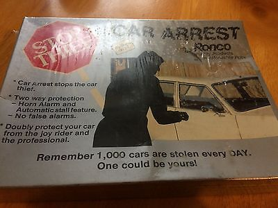stop thief/car arrest by ronco/car alarm/vintage and rare/new and boxed/see desc