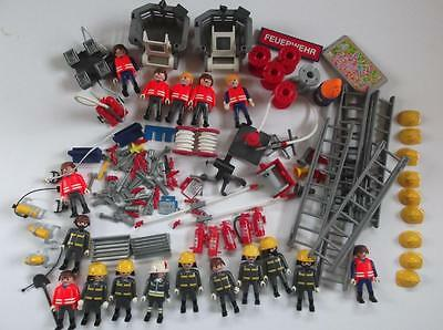 Playmobil Large Lot Firemen And Accessories