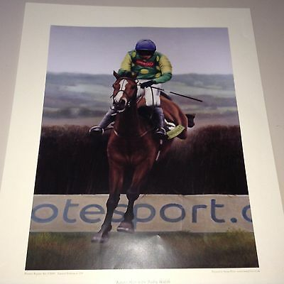 Limited Edition Print Kauto Star With Ruby Walsh Cheltenham Gold Cup