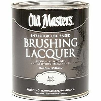 Old Masters Oil-Based Brushing Lacquer Satin Interior 31902 92904 New
