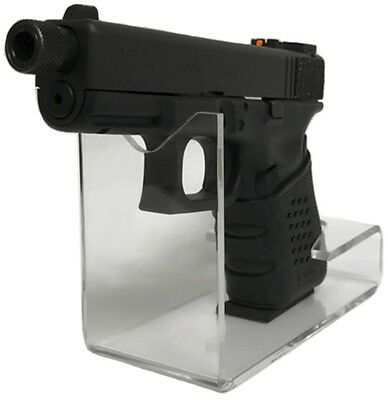 Gun and Firearm Acrylic Pistol Stand, Sold in Cases of 10