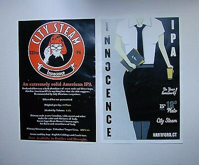 "City Steam Craft Brewery "" Innocence Ipa""  2013 Beer Festivial, Posters"