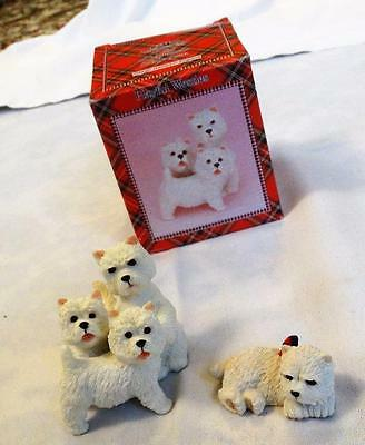 Boxed, Unused Group Of 3 West Highland Terriers/westies Ornament + Other