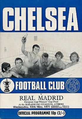 CUP WINNERS CUP FINAL 1971 Chelsea v Real Madrid - CFC edition