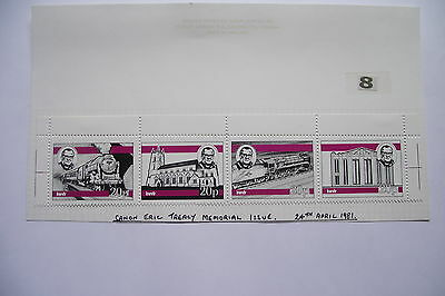 KEIGHLEY&WORTH VALLEY RAILWAY. MEMORIAL ISSUE 4 STAMPS@ 20p(24.04.1981) MINT#8