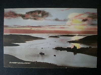 Scalloway Harbour Mainland Shetland Islands Scotland postcard