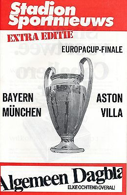 EUROPEAN CUP FINAL 1982 Aston Villa v Bayern Munich - Stadium edition