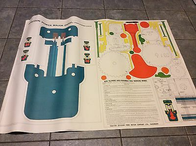 Fordson Power Major Original Vintage Classic Tractor Working Model Poster