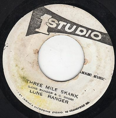 """ THREE MILE SKANK. "" lone ranger. STUDIO ONE 7in 1978."