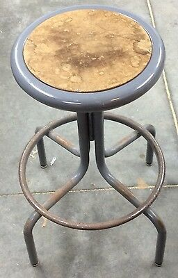 VINTAGE Mid Century InterRoyal Corporation Industrial Seating Stool Steampunk