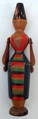 Antique Whistle Figure - Treen - Folk Art