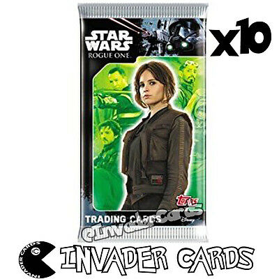 10x Disney Star Wars Rogue One Topps Trading Cards Booster Pack New Sealed