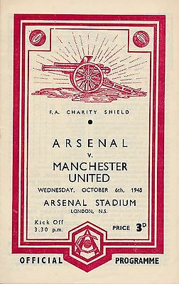FA CHARITY SHIELD PROGRAMME 1948 Arsenal v Manchester United