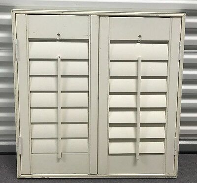 White Wood Window Shutter With Frame