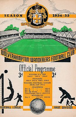 FA CHARITY SHIELD PROGRAMME 1954 Wolves v West Brom