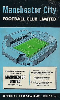 FA CHARITY SHIELD PROGRAMME 1956 Manchester City v Man Utd incl TOKEN