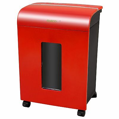 GoECOlife Compact Portable 12 Sheet Microcut Shredder - Red