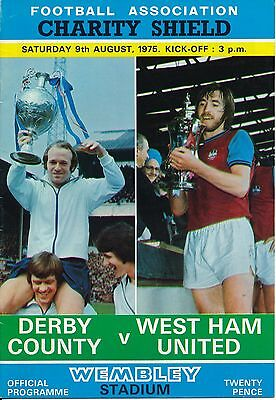 FA CHARITY SHIELD PROGRAMME 1975 Derby v West Ham