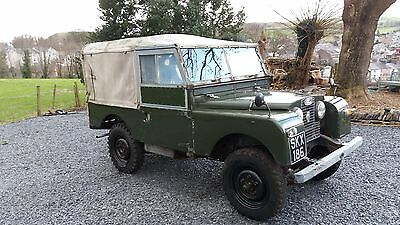 land rover series 1 with capstan winch