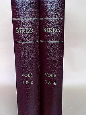 Cassell's Book Of Birds Complete 4 Vols In 2 Books Vgc 1869-73 40 Plates 400 Bw