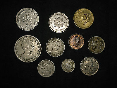 lot of 10 South America Argentina Brazil Chile Colombia Uruguay 1886-1945 coins