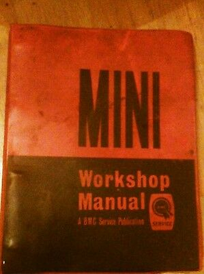 Mini BMC Workshop Manual MINI, MINI COOPER AND S 1966