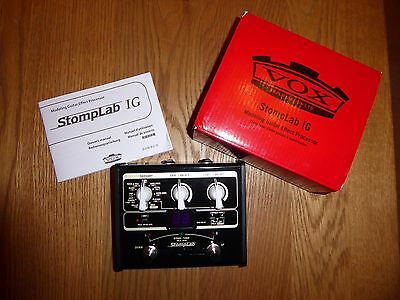 VOX StompLab 1G. Modeling Guitar Multi-Effects Processor Pedal
