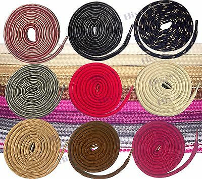 Round Shoe Lace Hiking Boot Lace Strong Textile Boot Laces High quality NEW