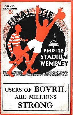 FA CUP FINAL PROGRAMME 1934 Portsmouth v Man City