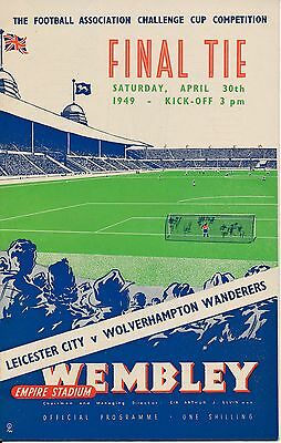 FA CUP FINAL PROGRAMME 1949 Leicester City v Wolves