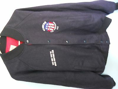 """Original 1992 """"Clinton For President"""" Staff Wool Jacket in Navy, Size 2XL"""