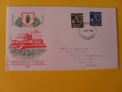 Definitive 1968 First Day Covers Northern Ireland
