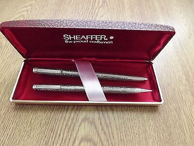 Sheaffer stirling silver ballpoint pen and pencil, boxed