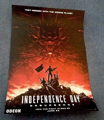 Independence Day Resurgence IMAX Movie Poster Double Sided Original Film 42x30cm