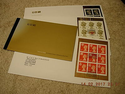 GB QEII Prestige Stamp Booklet DX24 - Special By Design - with 3 1st day covers