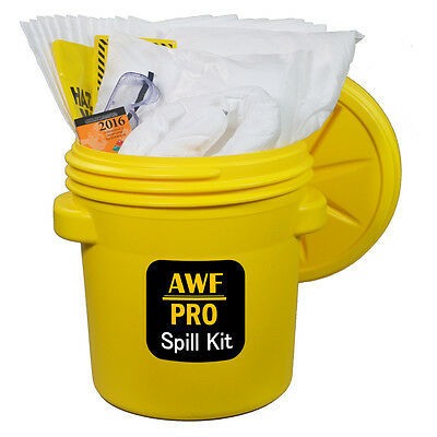 20 Gallon Oil Only Spill Kit, Pro Grade, 50 Pieces: Pads, Pillows, & Socks