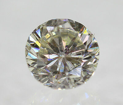Certified 0.51 I SI1 Round Brilliant Enhanced Natural Loose Diamond 5mm VG VG VG