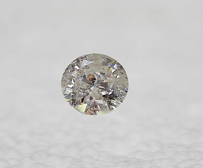 Certified 0.51 Carat H Color Round Brilliant Natural Loose Diamond 5.3m VG VG VG