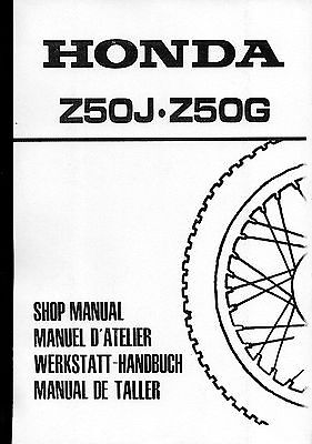 HONDA Z 50 a Monkey z50a manuale riparazione officina manuale Repair Shop Manual
