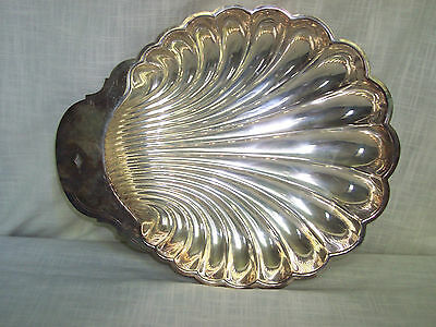 Vintage William Rogers Silverplate Clam Shell Platter Tray