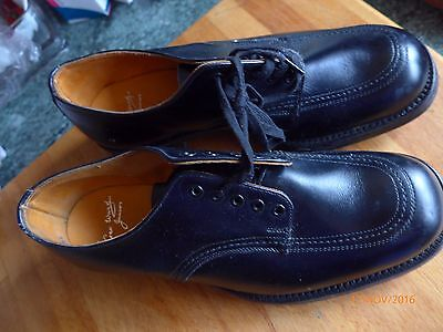 """BOYS RETRO/VINTAGE """"GEO.WARD"""" BENCH MADE ALL LEATHER SHOES -size 4UK"""