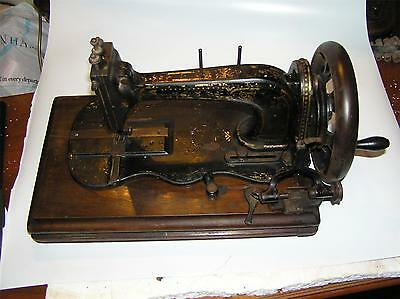 Rough but Scarce William Sellers Fiddle bed sewing machine. Working. No cover