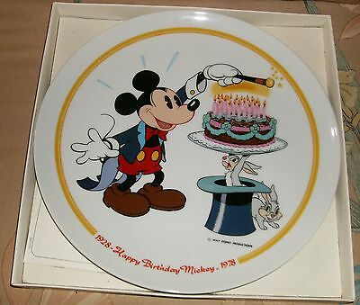 Vtg 1978 Schmid Happy 50th Birthday Mickey Mouse Limited Edition 3818 of 15000