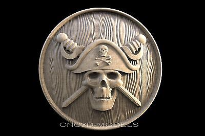 3D Model STL for CNC Router Engraver Carving Relief Artcam Aspire Pirate 138