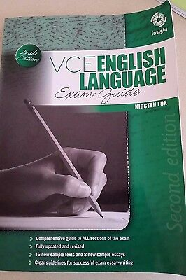 VCE Units 3&4 English Language Insight Exam Guide 2nd Edition Kirsten Fox