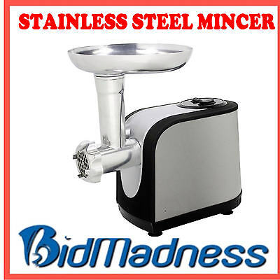 New Stainless Steel 1200W Electric Meat Grinder Mincer & Sausage Maker  Rrp $249